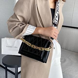Túi đeo chéo nữ mới hợp thời trang chuỗi một vai Túi nữ  Hàn Quốc