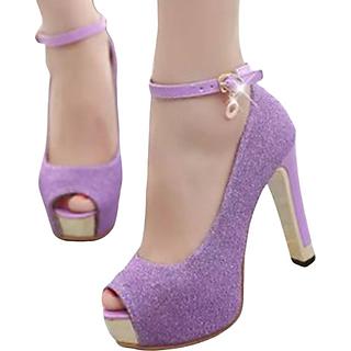 Giày cao gót dự tiệc kim tuyến Mã: GC0108