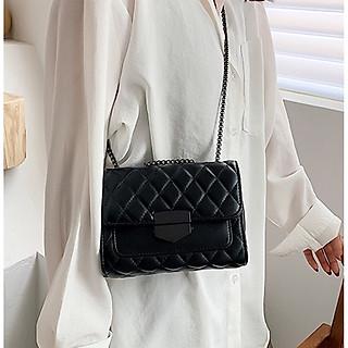 Túi đeo chéo nữ 3 ngăn – Túi xách nữ dễ thương trần trám khóa nhọn thời trang HY00463