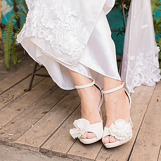 Giày cưới Nghé Art hoa 280