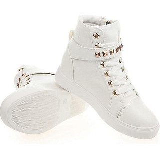 Giày boot thể thao phong cách Hàn Quốc - 002BT (Trắng)