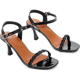 Giày Sandal Cao Gót 7cm Gót Nhọn Quai Gắn Xoàn Pixie X550