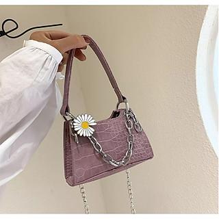 Túi xách nữ, túi đeo chéo nữ mini cao cấp cực đẹp TX40 với thiết kế họa tiết cúc họa mi mang phong cách hiện đại