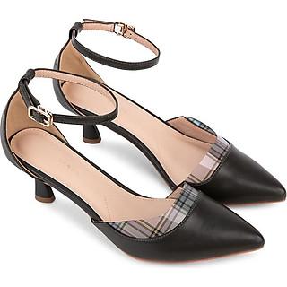 Sandal cao gót phối plastic vân caro - Sablanca 5050SN0107