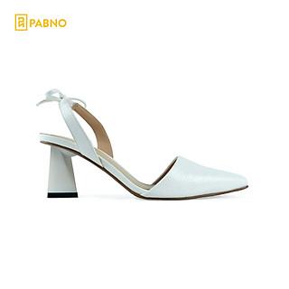 Giày cao gót slingback mũi nhọn cao 7cm hở gót mũi nhọn thời trang cao cấp PABNO PN822