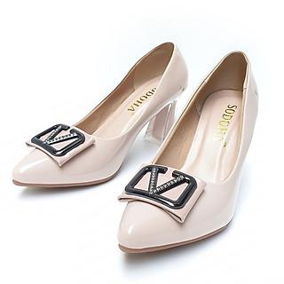 Giày cao gót nữ SODOHA 7cm Màu Kem SDH-V359MK