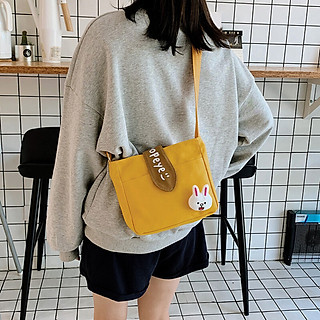 Túi Đeo Chéo Đeo Vai Nữ Vải Canvas Dày Dặn Thời Trang Hàn Quốc D5660
