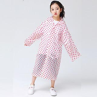 Áo mưa trẻ em chất poly mềm nhẹ cho bé 4-10 tuổi hoạt tiết chấm bi nhiều màu sắc đơn giản gọn nhẹ phù hợp cho bé mang đi học