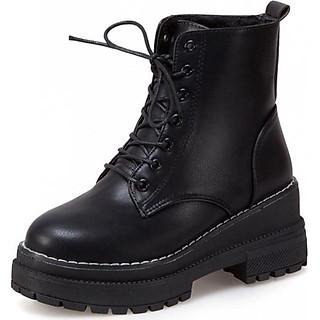 Giày Boot nữ thời trang cá tính B118 (Đen)