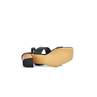 Giày Sandal Nữ Quai Ngang Gót Trụ Vân Gỗ 6cm PABNO PN11029