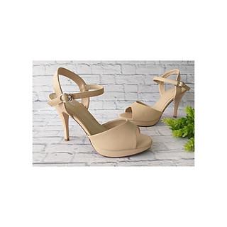 Giày Sandal Nữ- Giày Cao Gót, Basic Đúp Mũi Cao 10P PABNO PN446