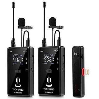 Micro thu âm không dây cho iPhone 2 người YC-WM500A2z hàng chính hãng