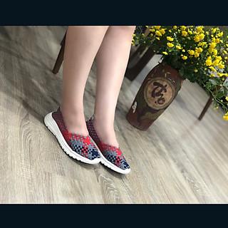 Giày thể thao nữ Thái Lan chuyên dụng đi bộ siêu nhẹ siêu bền siêu êm chân WN3008Wine, màu sắc thời trang trẻ trung, không ngại mưa nắng, đi mưa rửa nước thoải mái, đi mòn hết đế chưa hỏng giày - giày dép Thái Lan