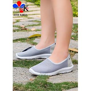 Giày Lười Nữ Anh Khoa A993-3, Chất liệu vải dệt dạng lưới mềm, đế cao su tự nhiên, mang thoáng mát ôm chân - Hàng Chính Hãng - sản xuất tại Việt Nam