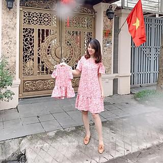 Váy hoa nhí mẹ bé thiết kế xinh yêu