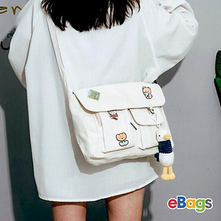 Túi Vải Đeo Chéo Nữ Đựng Vừa Giấy A4 Không Kèm Họa Tiết TEB393