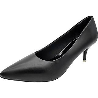 Giày Cao Gót 5cm Gót Nhọn Trẻ Trung Dáng Xinh Xắn 5P0816 (Đen)