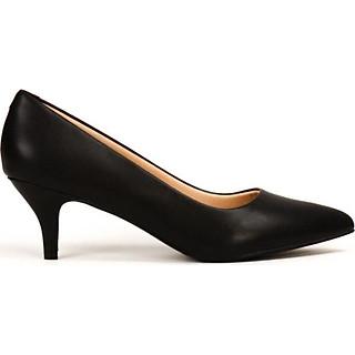 Giày cao gót nhọn 5cm da mờ siêu êm V015068