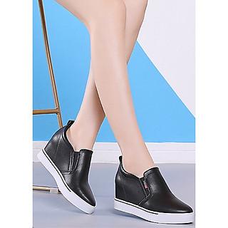 Giày slip on độn 7p da cao cấp siêu mềm SLO853903T