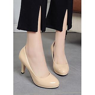 Giày cao gót nữ cao cấp mũi tròn  V146