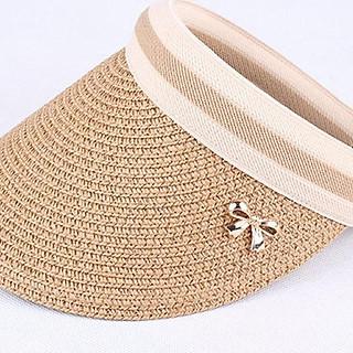 Mũ cói lưỡi trai nửa đầu chống nắng phù hợp đi chơi, đi biển (Màu nâu)