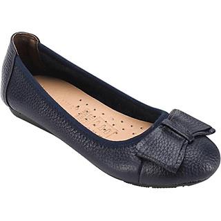 Giày Nữ Búp Bê Da Bò Huy Hoàng HT7908 - Xanh Đen