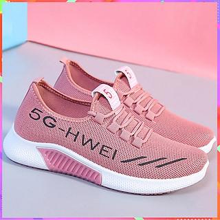 Giày Sneake cổ thấp thể thao buộc dây siêu nhẹ 5G-H QQ17 và kèm móc khóa thỏ trắng
