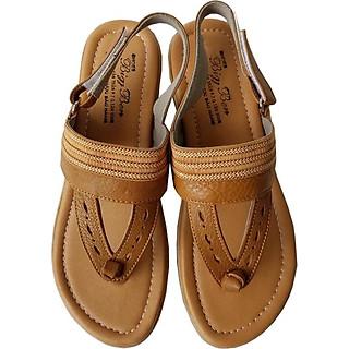 Giày Sandal Kẹp Nữ BIGGBEN Da Bò Thật SDN31
