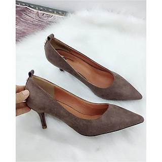 Giày cao gót 35CG5, cao 5cm phối đinh ( 1 hàng) MT68