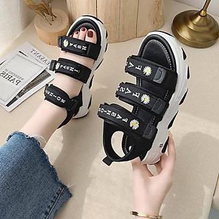Sandal nữ độn đế quai ngang cá tính nhiều màu mới