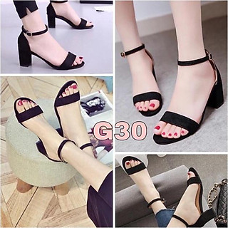 Giày sandal cao gót basic 5 phân