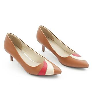 Giày Cao Gót 5cm Gót Nhọn Mix Nhiều Màu Màu Xám Pixie P350