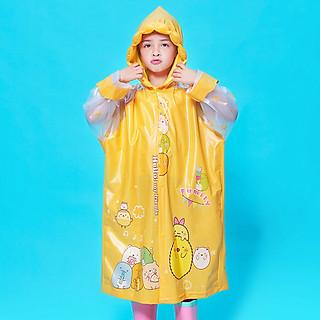 Áo mưa cho bé trai và bé gái 4-10 tuổi có thể làm phồng nón trùm chấp poly cao cấp hình thú đủ màu đáng yêu – AM014