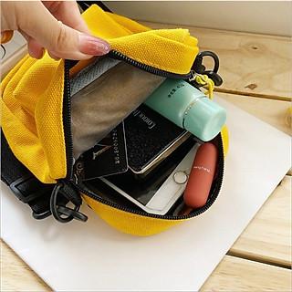 Túi vải canvas đeo chéo túi tote đựng điện thoại hoa cúc họa mi  TV006