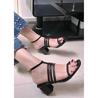 Giày sandal đế vuông 4 dây xỏ ngón S358