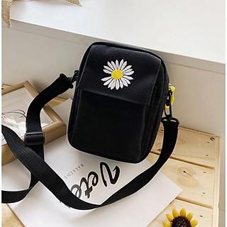 Túi tote, túi vải đựng điện thoại hoa cúc  TNX 426