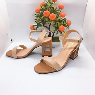 [ẢNH THẬT] Giày cao gót sandal 7 phân quai bản