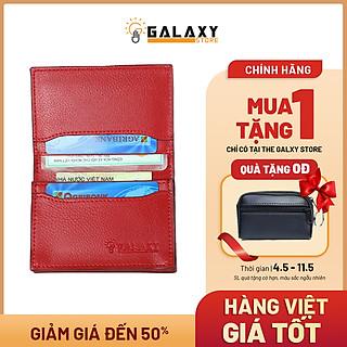 Ví Bóp Nam Nữ Nhỏ Gọn Cao Cấp Thời Trang Nhiều Ngăn Name Card Danh Thiếp Thẻ Galaxy Store GVMB0607NU (8x10.5cm) - Hàng Chính Hãng