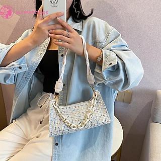 túi đeo vai dành cho nữ Xách Nữ Phối Len Thời Trang Thu Đông