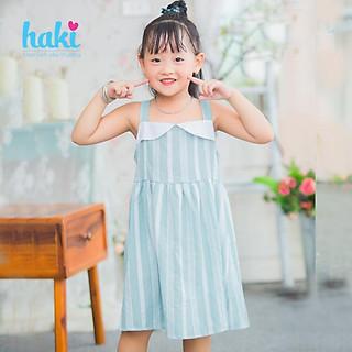 Váy bé gái / đầm bé gái - váy cúp ngực / váy hai dây cho bé, chất thô mềm mịn cho bé từ 2 đến 8 tuổi (10-25kg) Haki HK482