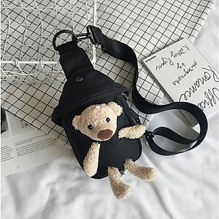 Túi đeo chéo, túi vải bố, túi hình gấu đáng yêu siêu đẹp