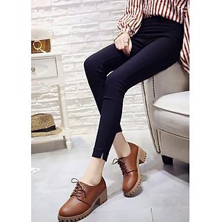 Giày boot nữ oxford màu nâu TRẺ TRUNG GBN2803