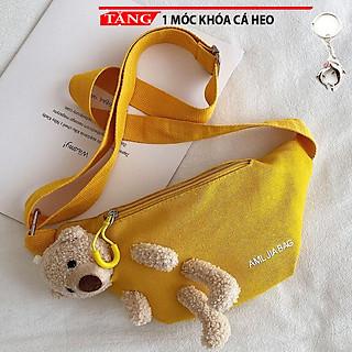 Túi đeo chéo Gấu giấu trong kiểu ngang mẫu ưa chuộng FF231 Tặng móc khóa cá heo
