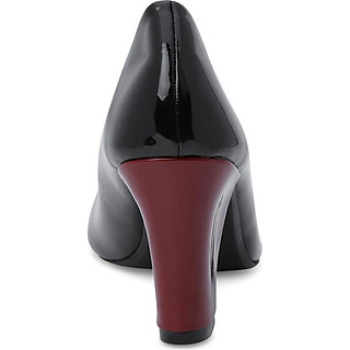 Giày Cao Gót Nữ Đế Vuông Rosata RO125 - Đen