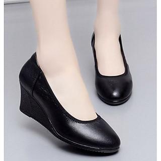 Giày da đế xuồng kiểu đơn giản