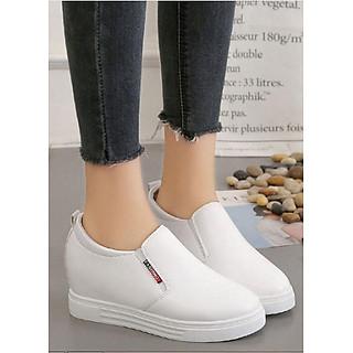 Giày thể thao nữ đế cao dáng Hàn Quốc trắng C65n