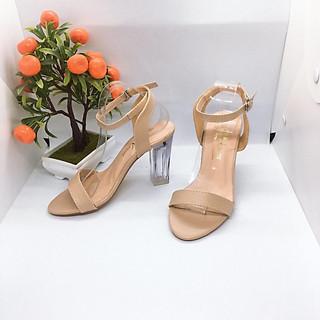 [ẢNH THẬT] Giày cao gót sandal 9 phân gót trong 001