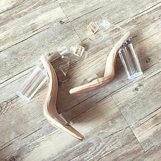 Giày Sandal quai trong mica
