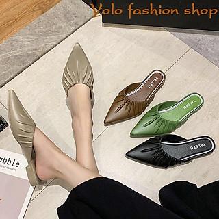 Giày sục nhựa đi mưa xêp li xinh xắn siêu mềm êm chân- Hàng QC cao cấp GN4