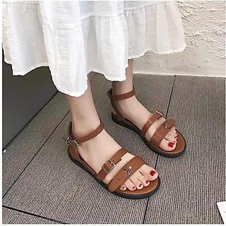 Dép Sandal Nữ Mẫu Mới Quai Ngang Gài Kiểu Cách Điệu Đế Dày Mẫu Trơn 2 cm YNSD01
